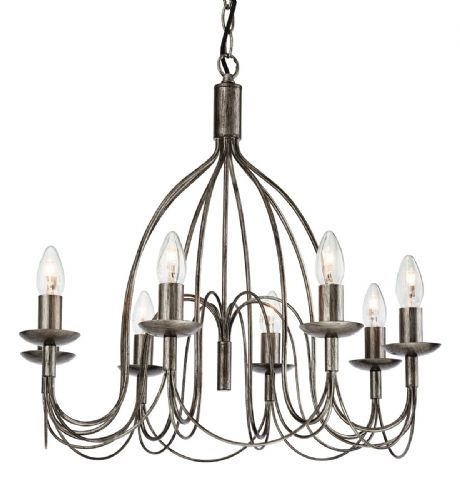 Firstlight 2318AS Antique Silver Regency 8 Light Fitting